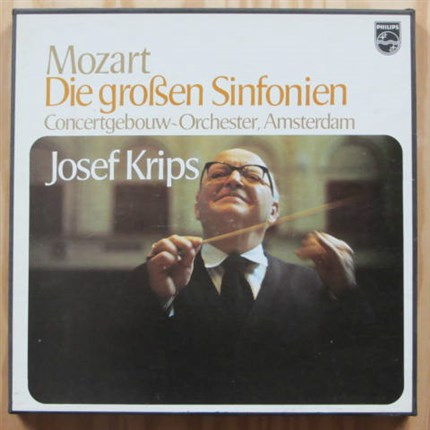 Mozart The Great Symphonies Josef Krips Concertgebouw Orchestra Amsterdam Philips