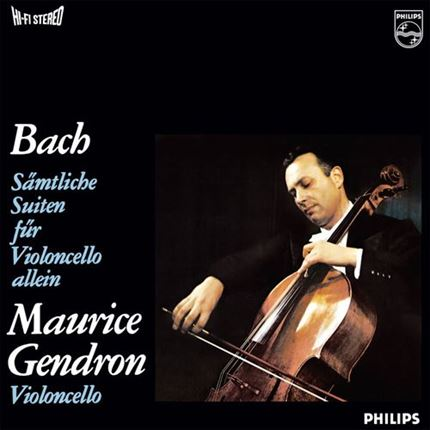 Bach Complete Cello Suites Maurice Gendron PHILIPS 3 LP ANALOGPHONIC