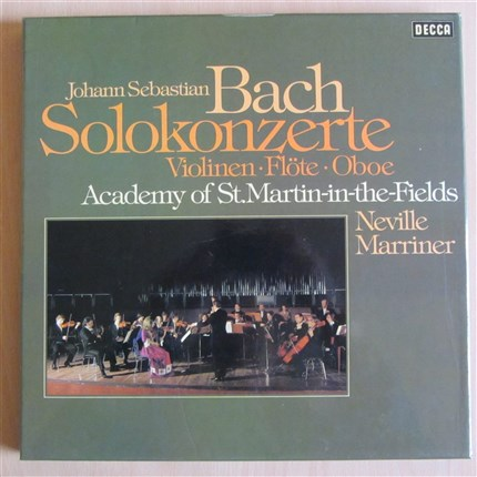 Bach Solokonzerte Violinen, Flöte, Oboe Academy of St.Martin-in-the-Fields Neville Marriner DECCA