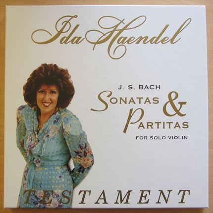 Bach Sonatas & Partitas for solo violin IDA HAENDEL TESTAMENT 3 LP