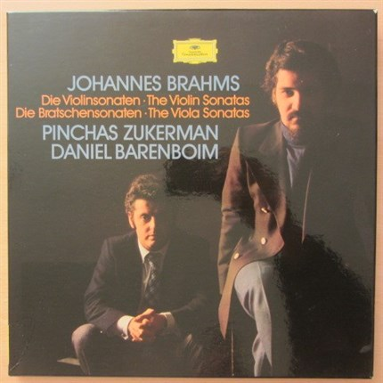 Brahms Complete sonatas for violin and piano Pinchas Zukerman Daniel Barenboim DGG