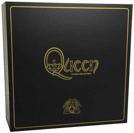 Queen: The Studio Collection — 18-disc box set  High-quality colored vinyl versions of Queen's 15 studio albums!