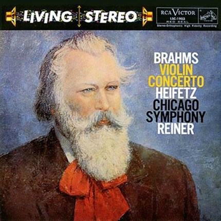 Brahms Violin Concerto Jascha Heifetz Fritz Reiner Chicago Symphony Orchestra RCA LIVING STEREO 200 gr LP ANALOGUE PRODUCTIONS
