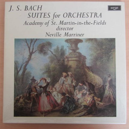 J.S. Bach Four Suites for Orchestra Academy of St. Martin-in-the-Fields Neville Marriner ARGO