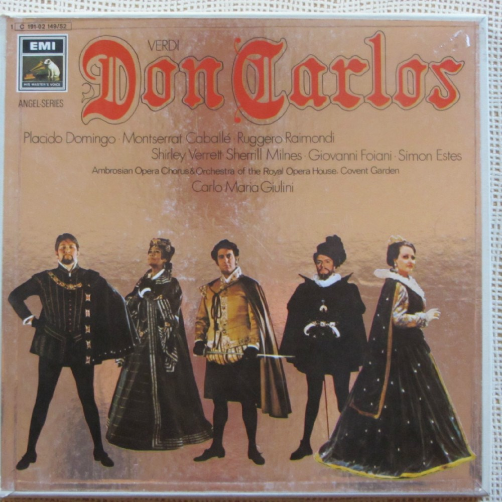 Verdi Don Carlos Domingo Caballe Raimondi Verrett Royal