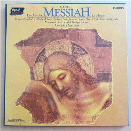 Haendel Messiah English Barroque Soloists Monteverdi Choir John Eliot Gardiner PHILIPS