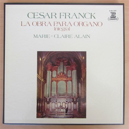 Cesar Franck Complete Organ Works Marie-Claire Alain ERATO