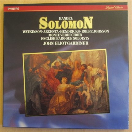 Haendel Solomon Watkinson, Argenta, Hendricks Monteverdi Choir and English Barroque Soloists GRADINER PHILIPS