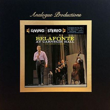 Harry Belafonte Belafonte at Carnegie Hall - The Complete Concert ANALOGUE PRODUCTIONS 200g 45RPM 5LP Box Set