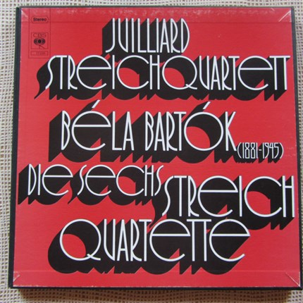 Bartok Six Strings Quartett Julliard Quartet CBS