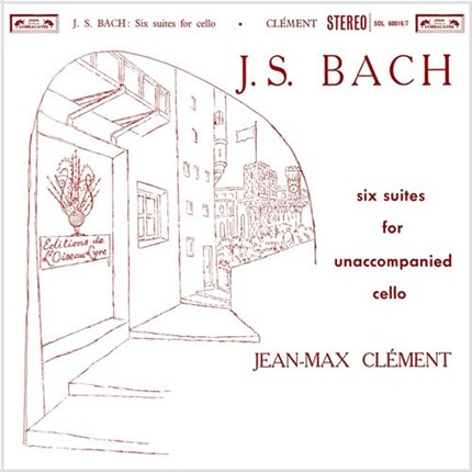 J.S. Bach Six Suites For Unaccompanied Cello Jean-Max Clement L'oiseau Lyre