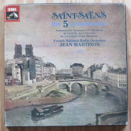 SAINT-SÄENS The 5 Symphonies Jean Martinon French National Radio Orchestra EMI