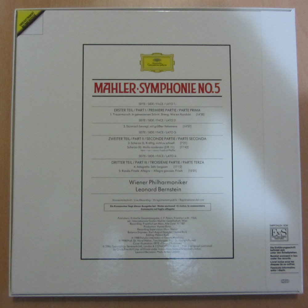 Mahler Symphonie Nr 5 Wiener Philharmoniker Leonard