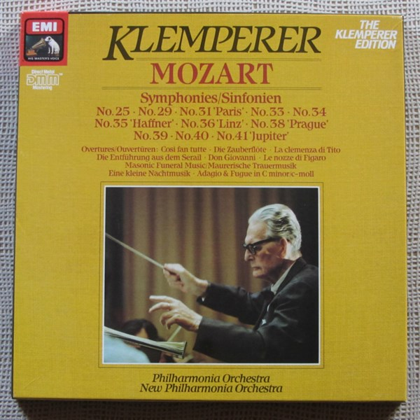 Mozart Symphonies Amp Overtures Philharmonia And New
