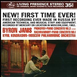 Sergej Prokofiev: Piano Concerto No. 3 in C Major, op. 26 / Serge Rachmaninov: Piano Concerto No. 1 in F Sharp Minor op. 1 - Byron Janis and the Moscow Philharmonic Orchestra conducted by Kyril Kondrashin MERCURY