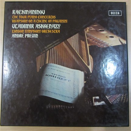 Rachmaninov Complete Piano Concertos & Rhapsody on a theme of paganini Ashkenazy London Symphony Orchestra Previn DECCA