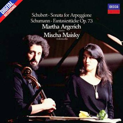 SCHUBERT Sonata for arpeggione and piano SCHUMANN Fantaisies  MAISKI ARGERICH DECCA LP 180 gr