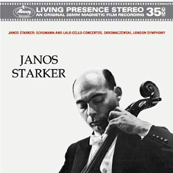 Schumann: Concerto for Violoncello and Orchestra / Lalo: Concerto for Violoncello and Orchestra - Janos Starker and the London Symphony Orchestra conducted by Stanislaw Skrowaczewski MERCURY RECORDS SPEAKERS CORNER