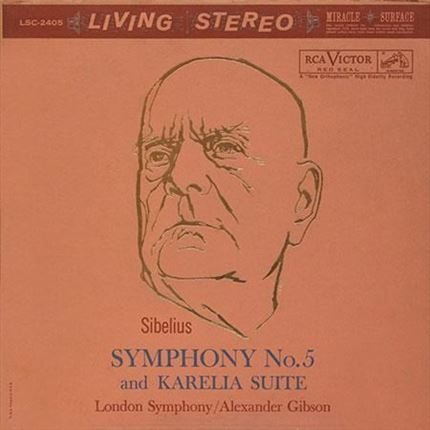 Sibelius Symphony No. 5 and Karelia Suite Alexander Gibson Analogue Productions 200g LP