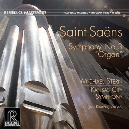 "Saint-Saens Symphony No. 3 ""Organ"" Half-Speed Mastered 180g 45rpm LP REFERENCE RECORDINGS"