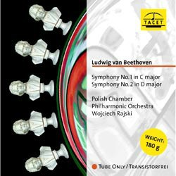 Ludwig van Beethoven: Symphony No. 1 in C major op. 21 and No. 2 in D major op. 36 - The Polish Chamber Philharmonic Orchestra conducted by Wojciech Rajski TACET