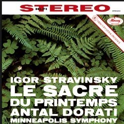 "Igor Stravinsky: ""Le Sacre du printemps (The Rite Of Spring)"" - The Minneapolis Symphony Orchestra conducted by Antal Dorati MERCURY"