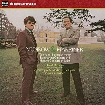 Telemann, Sammartini, Haendel  Concertos for Treble Recorder David Munrow, Neville Marriner Academy St. Martin-in-the-Fields EMI