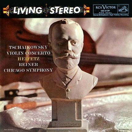 Jascha Heifetz Tschaikowsky Violin Concerto Chicago Symphony Orchestra Fritz Reiner 200g LP ANALOGUE PRODUCTIONS