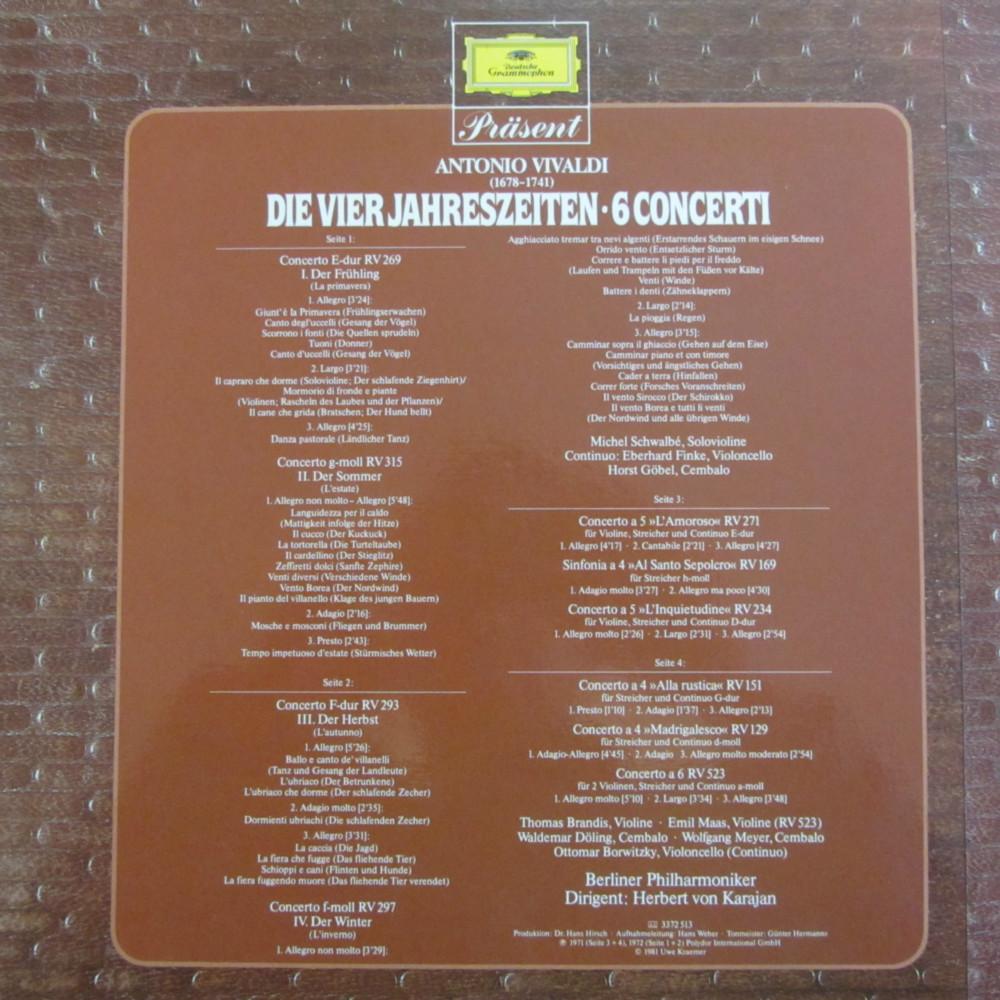 Vivaldi The Four Seasons Herbert Von Karajan Berlin