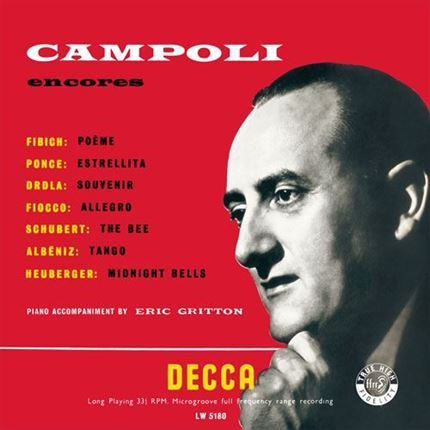 Alfredo Campoli Encores Vol. 1 & 2 ANALOGPHONIC180g LP