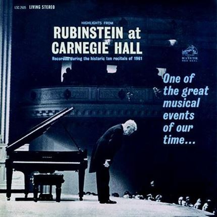 Arthur Rubinstein Highlights From Rubinstein At Carnegie Hall Analogue Productions200g LP
