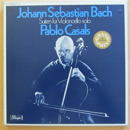 Bach Six cello suites for cello solo Pablo Casals EMI