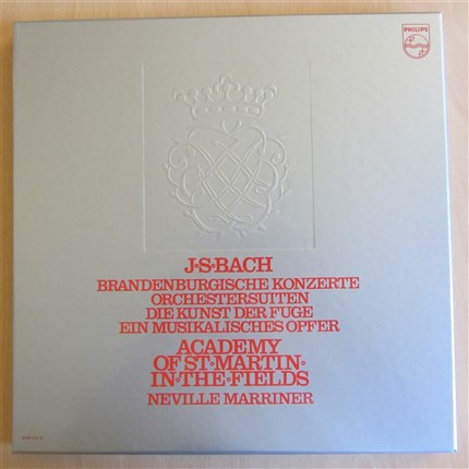 Bach Brandembug Concertos, Suites for Orchestra, A Musical Offering, The Art of Fuge NEVILLE MARRINER Academy St. Martin-in-the-Fields PHILIPS