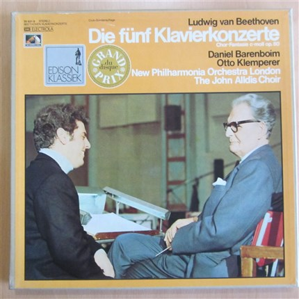 BEETHOVEN Piano Concertos and Choral Fantasy Daniel BARENBOIM New Phiharmonia Orchestra Otto KLEMPERER  EMI