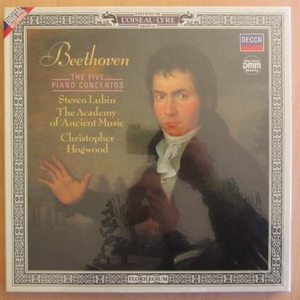 BEETHOVEN Complete piano concertos Lubin Hogwood L'Oiseau-Lyre SEALED!!!