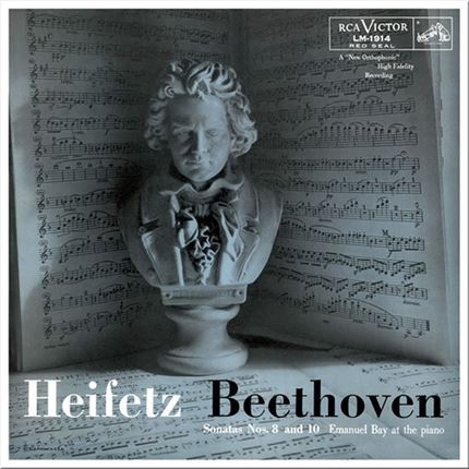 Excelente interpretación de Jascha Heifetz Ludwig van Beethoven Sonatas Nos. 8 & 10 IMPEX RECORDS Numbered Limited Edition 180g LP (Mono)