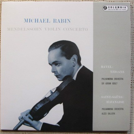 Michael Rabin - Mendelssohn Violin Concerto Op. 64 Ravel - Tzigane Philharmonia Orchestra, Conducted by Sir Adrian Boult Havanaise - SAINT-SAËNS Philharmonia Orchestra conducted by Alceo Galliera TESTAMENT