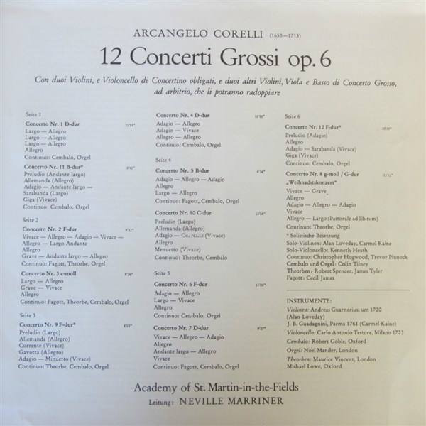 Corelli 12 Concerti Grossi Op. 6 MARRINER (1)