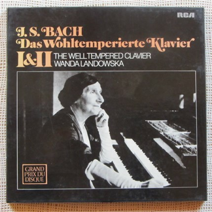 BACH The well tempered clavier Books I & II Wanda Landowska RCA