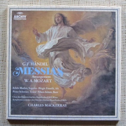 Haendel Der Messias arranged by Mozart Mathis, Schreier Charles Mackerras ARCHIV
