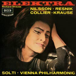 Richard Strauss Electra Resnik, Nilsson, Colier, Stolze, Krause. Geor Solti Vienna Philharmonic 1966 DECCA