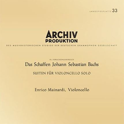 Enrico Mainardi Johann Sebastian Bach Suites For Cello Solo ANALOGPHONIC 180g 4LP Box Set