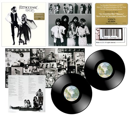 Fleetwood Mac Rumours 180g 45rpm Deluxe Edition 2LP