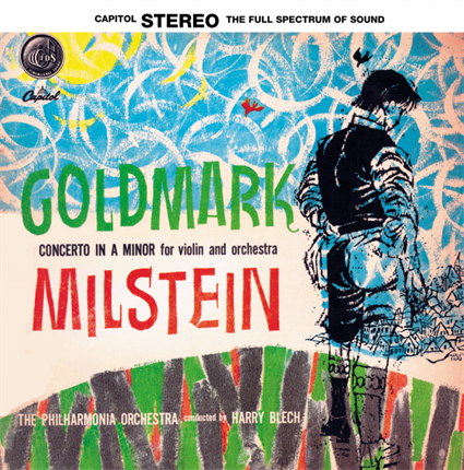Károly Goldmark  Violin Concerto in A minor Nathan Milstein, violin Philharmonia Orchestra Harry Blech, conductor  TESTAMENT LP