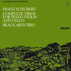 Franz Schubert: ?- Piano Trios in B flat major, op. 99, D 898; in E flat major, op. posth. 148, D 897; in E flat major, op. 100, D 929; in B flat major, D 28 - Beaux Arts Trio PHILIPS