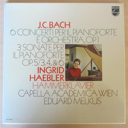 J. C. Bach 6 Concertos for clavier and Orchestra 3 Sonatas INGRID HAEBLER PHILIPS