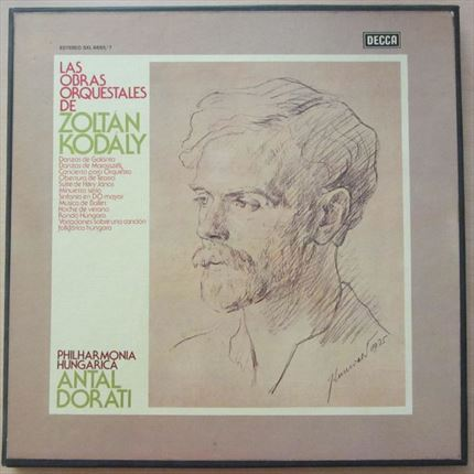 Kodaly The Orchestral works Antal Dorati Philharmonia Hungarica DECCA