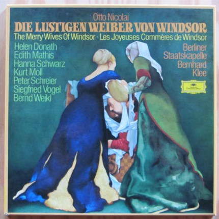 Nicolai The Merry Wives Of Windsor Donath, Mathis, Schwarz, Moll, Schreier Bernhard Klee DGG