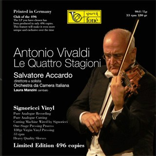 Antonio Vivaldi The four seasons  Salvatore Accardo  Orchestra da Camera Italiana FONE