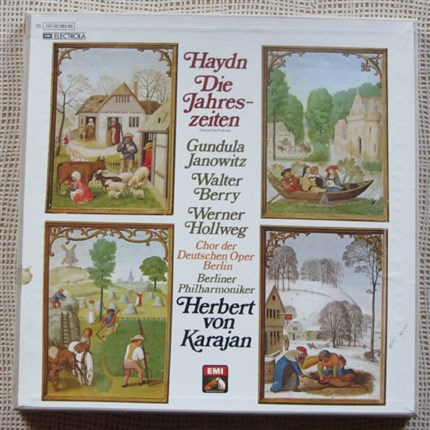 Haydn The seasons Janowitz, Berry, Hollweg Herbert von Karajan EMI